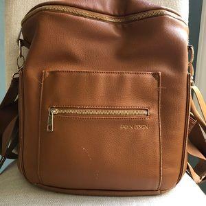 Fawn Design Brown Diaper Bag regular size *flaws*